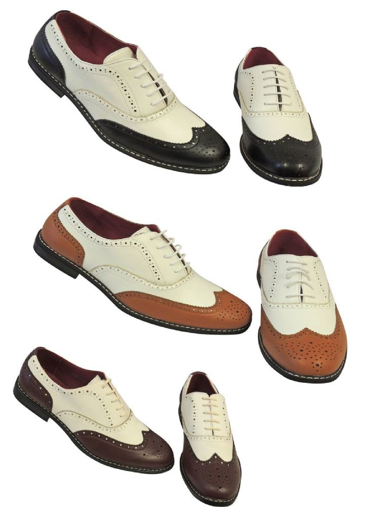 Vintage 1920 s 30 s 40 s mens Two Tone Wing tip Spectator ...